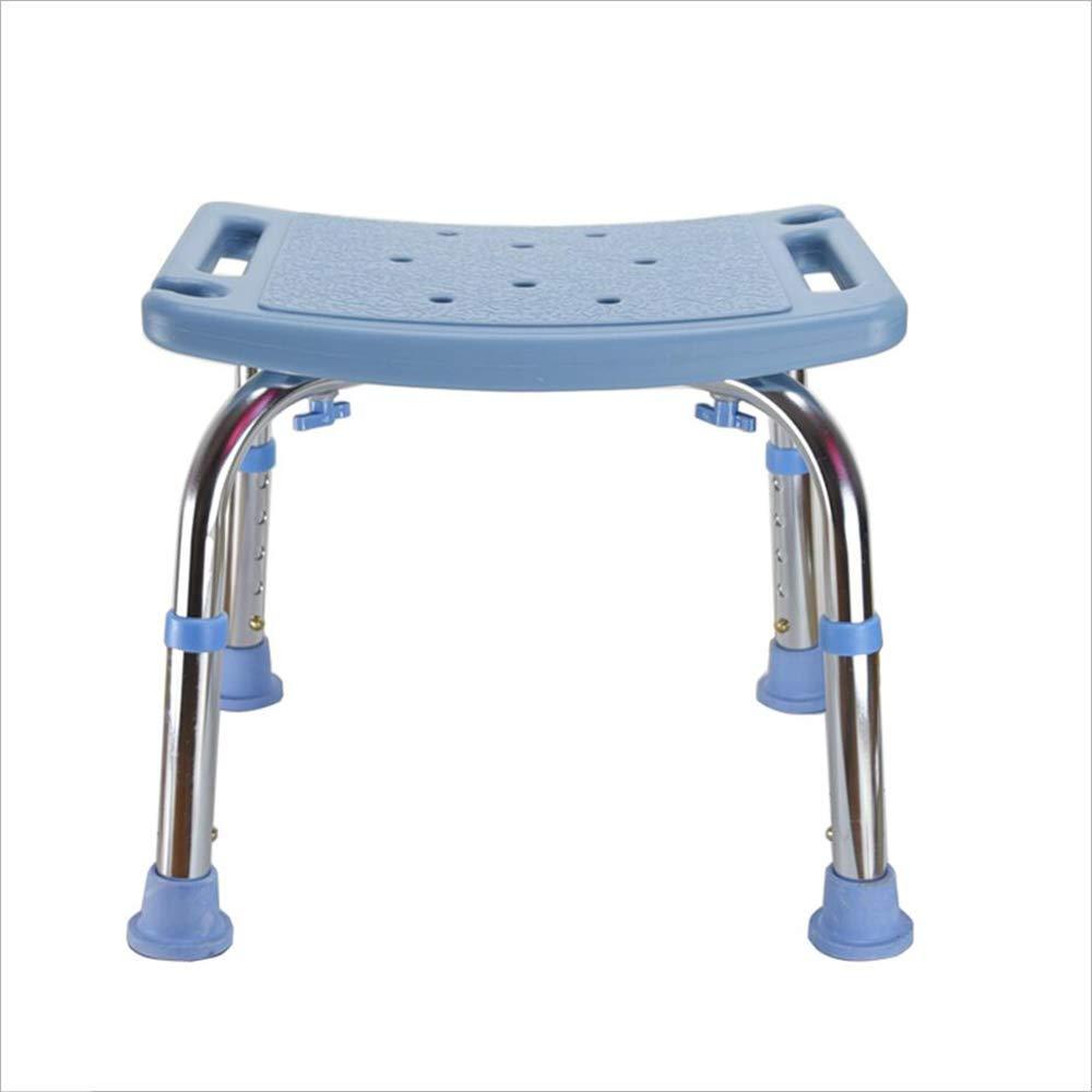 LYXPUZI Badestuhl für ältere Menschen - Duschstuhl Badehocker Rutschfester Badhocker - höhenverstellbar (Farbe : with backrest)