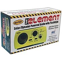 "10200 ""The Element"" Dynamo Powered Solar Radio & Flashlight with NOAA, Yellow"