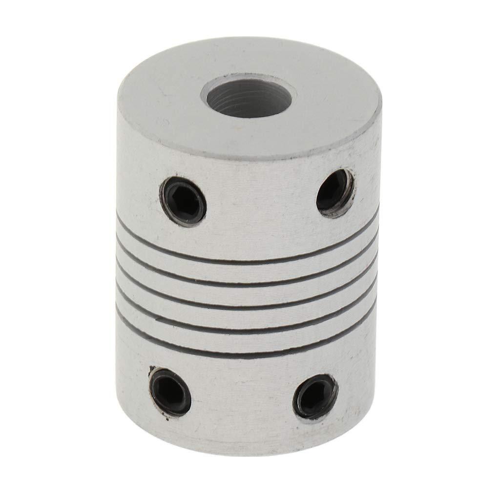 Plata 5x5x25 mm Homyl Acoplador de Eje Motor Flexible para Impresora Nema 17 Reprap 3D