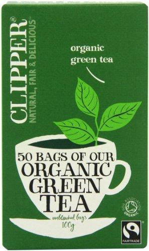 Clipper Fairtrade Organic Green 50 Teabags (Pack of 6, Total 300 Teabags) - Clipper Green Tea