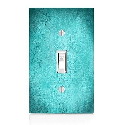 Moonlight Printing Blue Teal Aqua Vintage Grunge Design Background Light Switch Plate: Home & Kitchen [5Bkhe1100400]