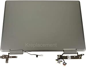 """Krenew 15.6"""" Touch Screen Replacement Digitizer Front Glass Panel LCD Display with Back Cover for Dell Inspiron 15-7573 (FHD 1920x1080)"""