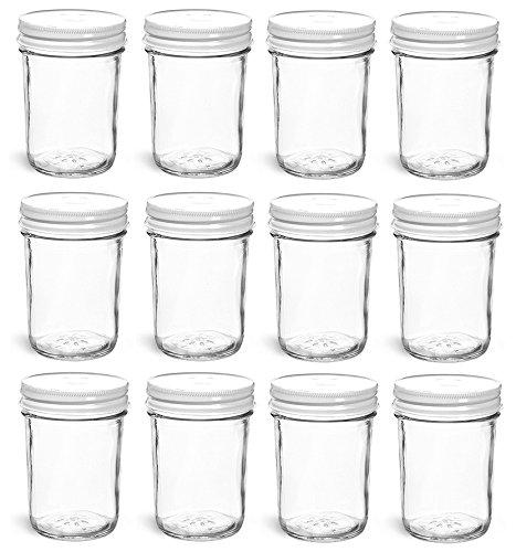 White 8 Ounce Jar - 6