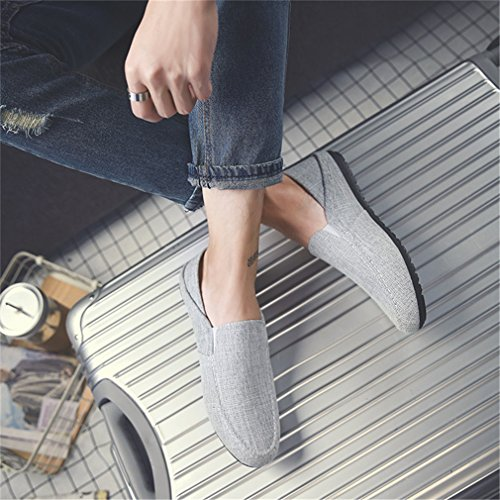 Hommes Slip Casual Chaussures Toile Espadrilles Chaussures De Mocassins Mode Appartements De light Lumino Sur Hommes Homme gray Espadrilles Chanvre En Og1Odq