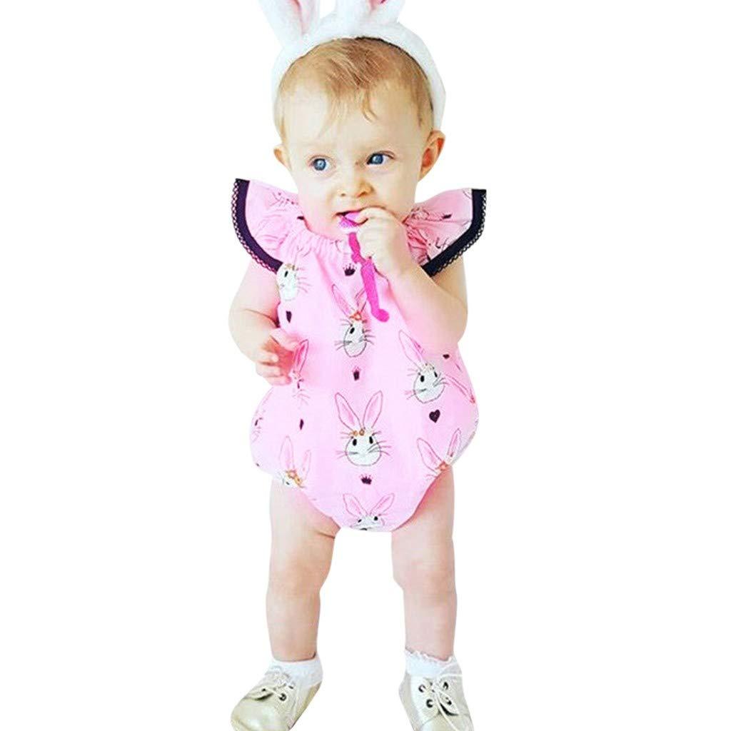 JURTEE Barboteuse B/éB/é Fille /ÉT/é Toddler Baby Boys /& Girls Lettre Imprim/é Combinaison sans Manches Romper