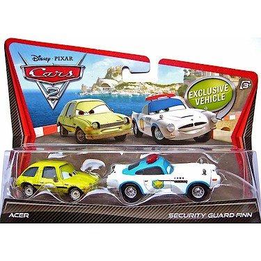 Disney / Pixar CARS 2 Movie 155 Die Cast Car 2Pack Security Guard Finn McMissile - Guard Car Diecast