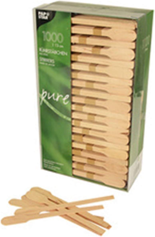 Papstar 16715, 1000 agitadores, removedores, madera, pure, 13 centimeter