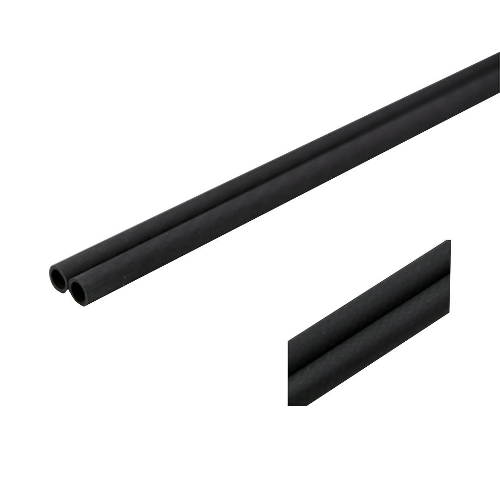 SHINA 3K rouleau enveloppé 20mm fibre de carbone tube 16mm x 20mm x 500mm mat pour RC Quad (XY-20-16) 2X3KTXWG-XY-20-16