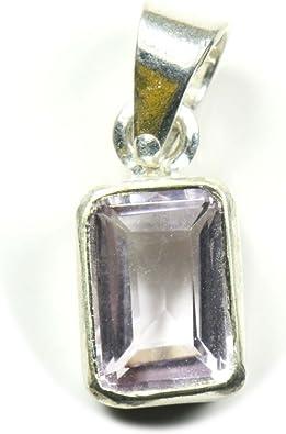Wow AAA Amethyst Rhodium Pendant 2.30 Gram Natural Amethyst Oval 9x11mm gemstone 92.5 Sterling Silver Pendant 2.5 Centimetres long