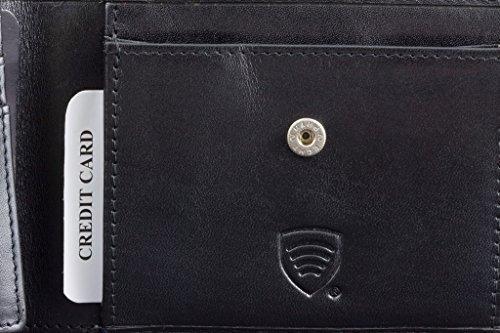 KORUMA RFID Schutz Leder Geldbeutel (36BNL)