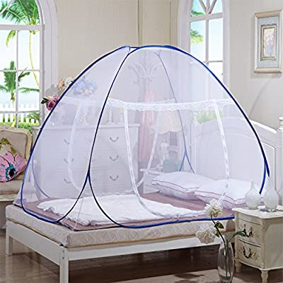 1,5m / 1,8m Portable pliant Pop Up Mosquito Double Net Canopy Rideaux Outdoor Insect Repellent paludisme Canopy Voyage Camping Tente