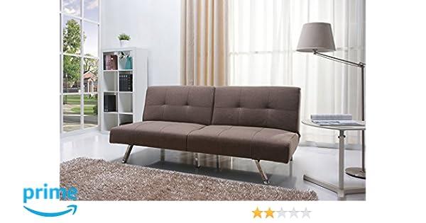 Gold Sparrow Victorville Foldable Futon Sofa Bed, Mocha