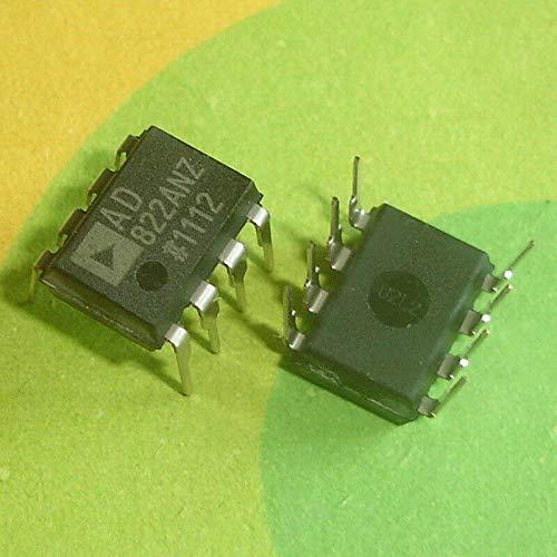 FidgetKute 10 PCS AD822ANZ DIP-8 AD822AN AD822 Rail-to-Rail Low Power FET-Input Op Amp