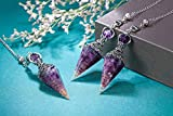 Jovivi Amethyst Healing Crystal Pendulums for
