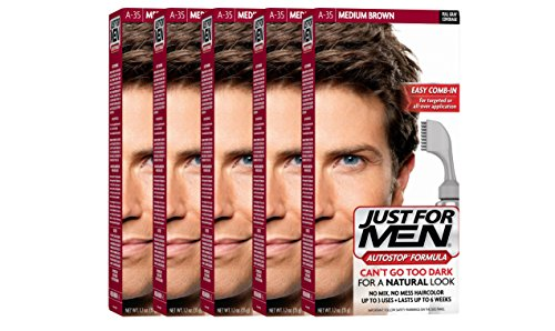 Just For Men AutoStop Men's Hair Color (5, Medium Brown) by Just for Men