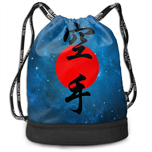 Zhangyi Japanese Karate Drawstring Backpack Sports Gym Cinch Sack Bag for Men & Women Sackpack Dance Bag