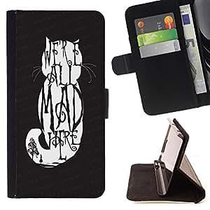 King Case - FOR Sony Xperia M2 - long time no see - Prima caja de la PU billetera de cuero con ranuras para tarjetas, efectivo Compartimiento desmontable y correa para la mu?eca