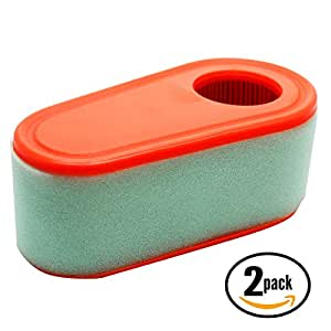 2-Pack Replacement Briggs & Stratton 111P05-1317-F1 Engine Air Filter Cartridge - Compatible Briggs & Stratton 795066 Filter