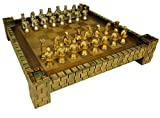 HPL Medieval Times Busts Gold & Silver Knights Chess Set W/ 17' Castle Fortress Board