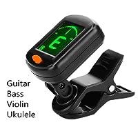 Tuner On Guitar Clip-On Tuner for Guitars, Ukulele, Bass, Violin, 360 degree Rotational Electronic Digital Tuner