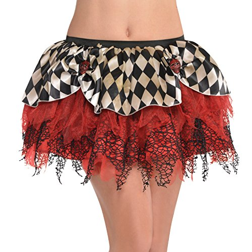 amscan Clown Tutu - Adult Standard, Black/Red -