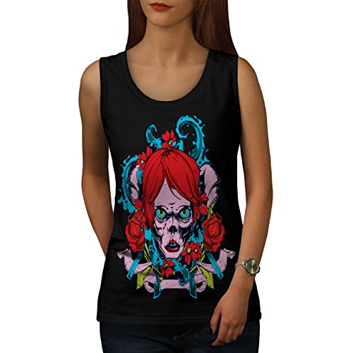 Horror Girl Octopus Zombie Lady Women NEW XL Tank Top | Wellcoda (Zombie Women)