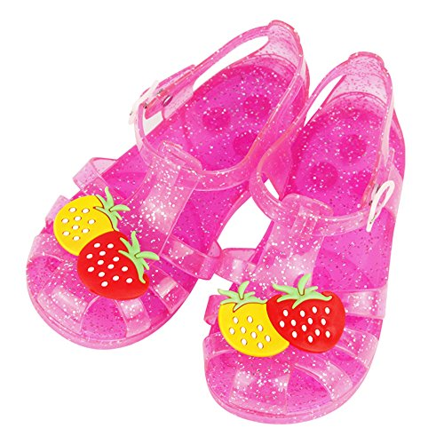 Strawberry Wedge Sandals (Red) - 4