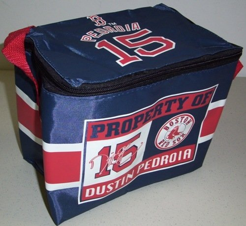 Boston Red Sox Dustin Pedroia MLB Insulated Lunch Cooler Bag