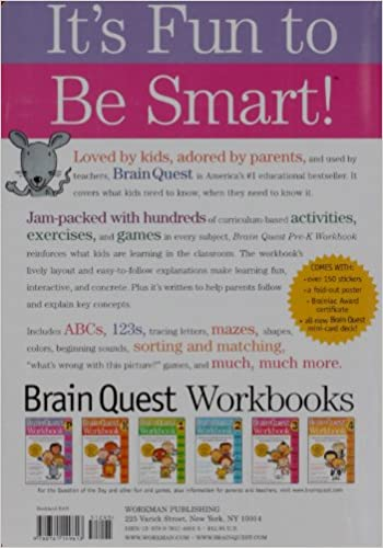 Brain Quest Workbook: Pre-K: Liane Onish: 9780761149613: Amazon ...