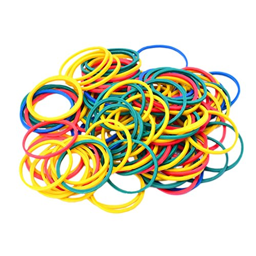 MagiDeal 100 Pieces Colorful Elastic Rubber Bands For Tattoo Gun Machine Supplies ()