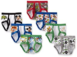 Disney Little Boys\' Mickey 7 Pack Brief, Multi, 4T