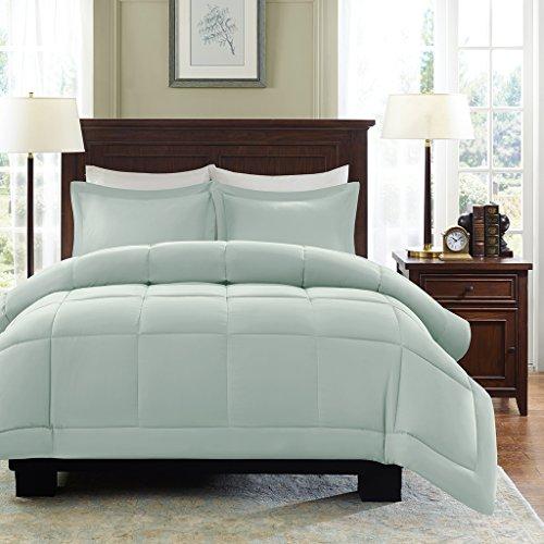 Madison Park Sarasota Microcell Down Alternative Comforter Mini Set, Twin, Seafoam