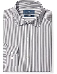 Men's Tailored Fit Gingham & Stripe Non-Iron Dress Shirt
