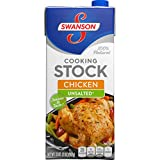 Swanson Cooking Stock, Unsalted Chicken, 32 Ounce (Pack of 12)