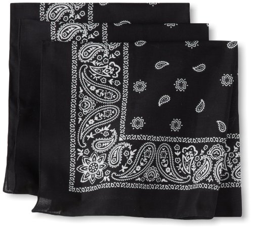 Levi's Men's 100% Cotton Bandana Headband Gift Sets, black, One ()