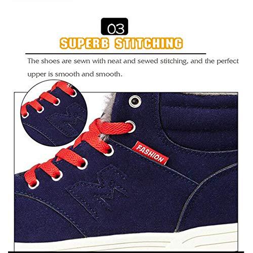 ginnastica scarpe Winter Scarpe Green da da in pelliccia uomo fodera uomo e in sportivo con cotone da 67H6wx