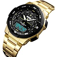 [Patrocinado] Relojes dorados para hombre, reloj deportivo, reloj de cuarzo impermeable
