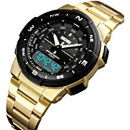 [Sponsored]Mens Gold Watches Sport Clock Mens Watches Top Brand Luxury Casual Waterproof Quartz...