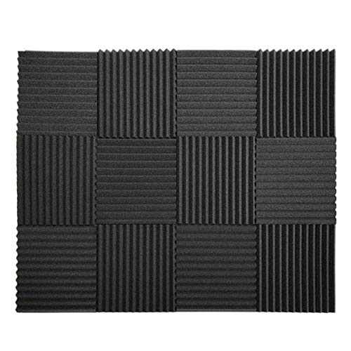 12 Pack Set Acoustic Panels, Acoustic Foam Panels, Studio Wedge Tiles, Sound Panels wedges Soundproof Sound Insulation Absorbing 1