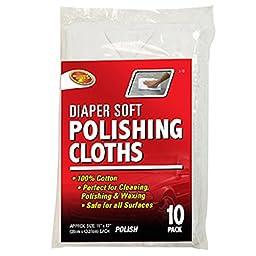 Detailer\'s Choice 2-10 Diaper Soft Polishing Cloth - 10-Pack