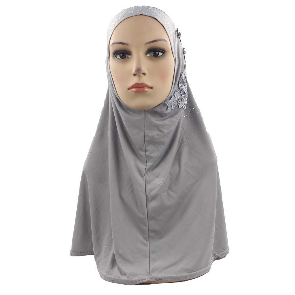 Stretch Long Hair Scarf Turban Tie Muslim Hijab Instant Convenient Shawl Head Wear Headband-Solid Color Head Wrap
