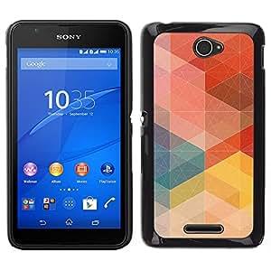 LECELL--Funda protectora / Cubierta / Piel For Sony Xperia E4 -- Modelo en colores pastel Orden Rojo Tono --