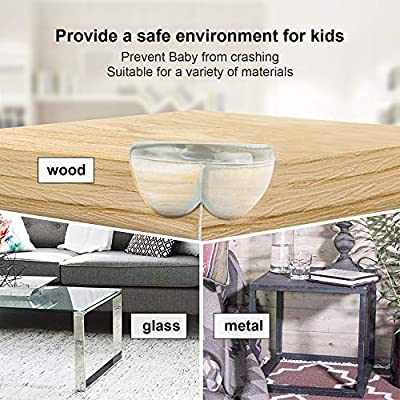 Clear Corner Protector, 24 Packs of Baby Proofing Corner Guards Table Corner Protectors for Baby Safety - 3M Strong Adhesive Edge Guards Furniture Against Sharp Corner Bumpers (2 Shapes Included)