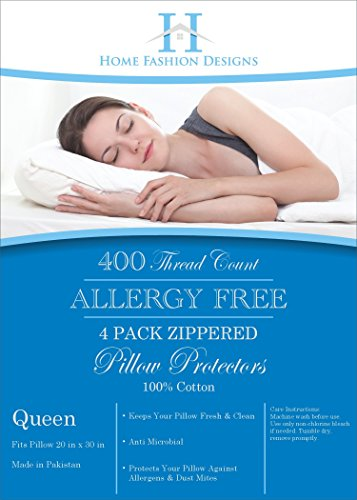 4 Pack Premium Allergy Protection Pillow Protectors
