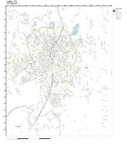 Amazon Com Working Maps Zip Code Wall Map Of Lufkin Tx Zip Code