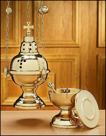 Autom Eastern Rite Censer with 12 Bells and Boat Set by Autom