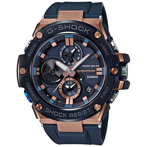 Men s Casio G-Shock G-Steel Black Resin Band Watch GSTB100G-2A