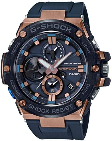 Men s Casio G-Shock G-Steel Black Resin Band Watch GSTB100G-2A