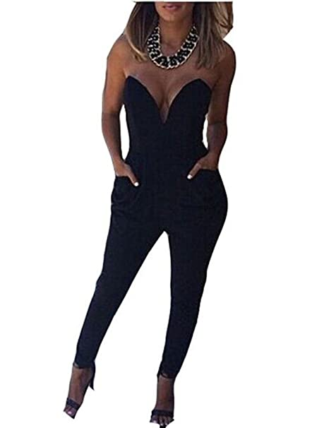 Ovender® Mono Largo Casual Malla Cuello de Alta Cintura para Mujer Manga Larga Otoño Hueco Flounce Pantalones Piernas Anchas Suit Traje Dama Boda ...
