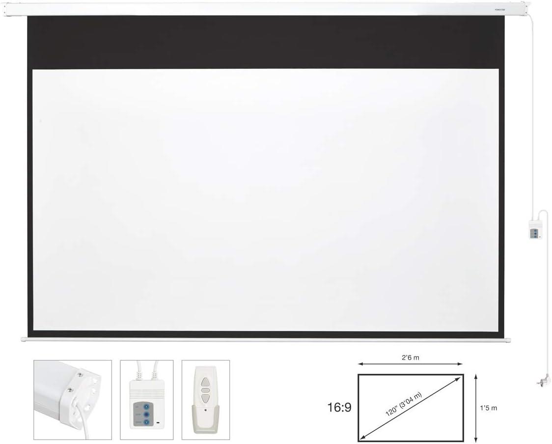 Fonestar PPEL-16120-BA - Pantalla de proyección eléctrica: Amazon ...